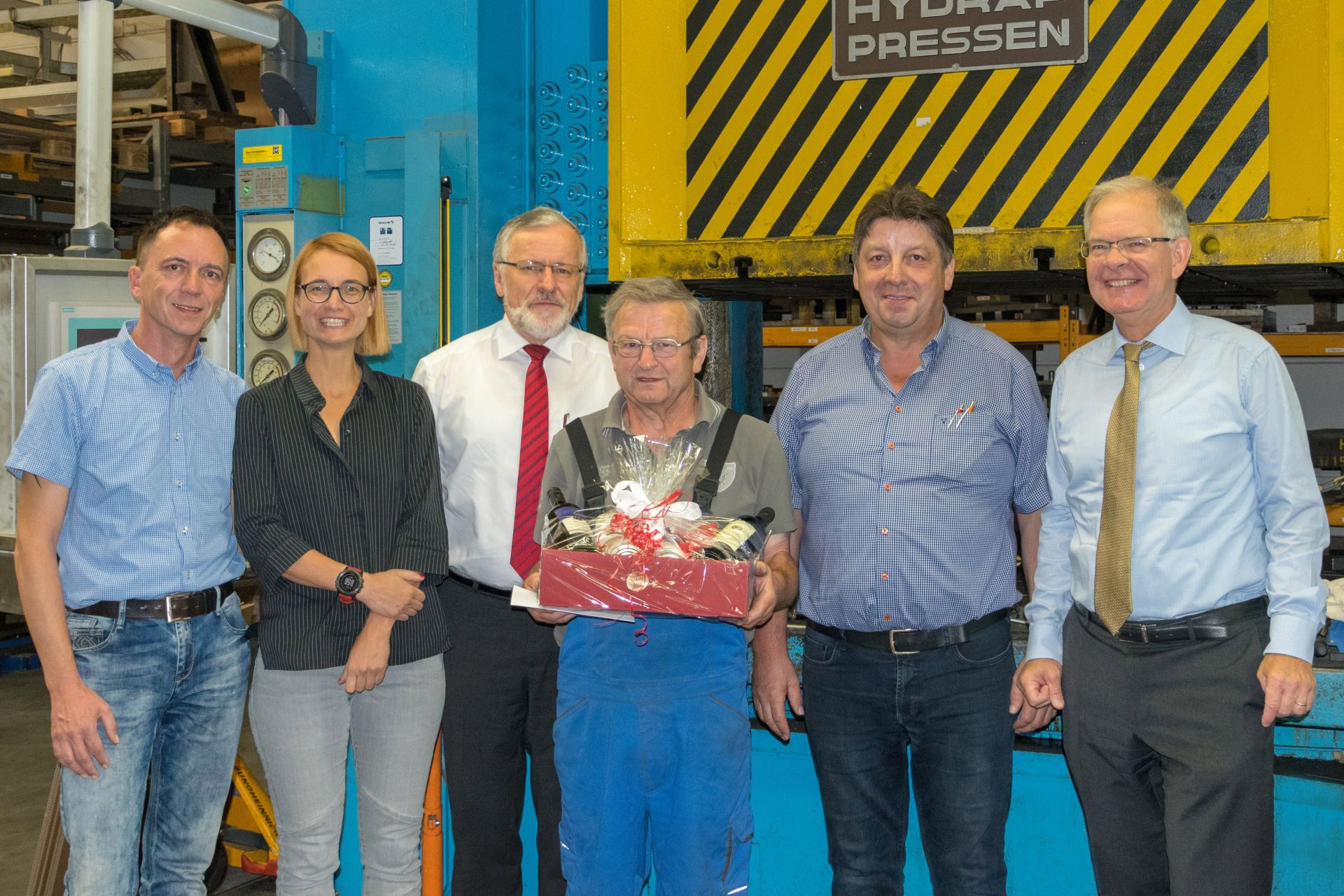 Golden Company Anniversary for Manfred Herbst