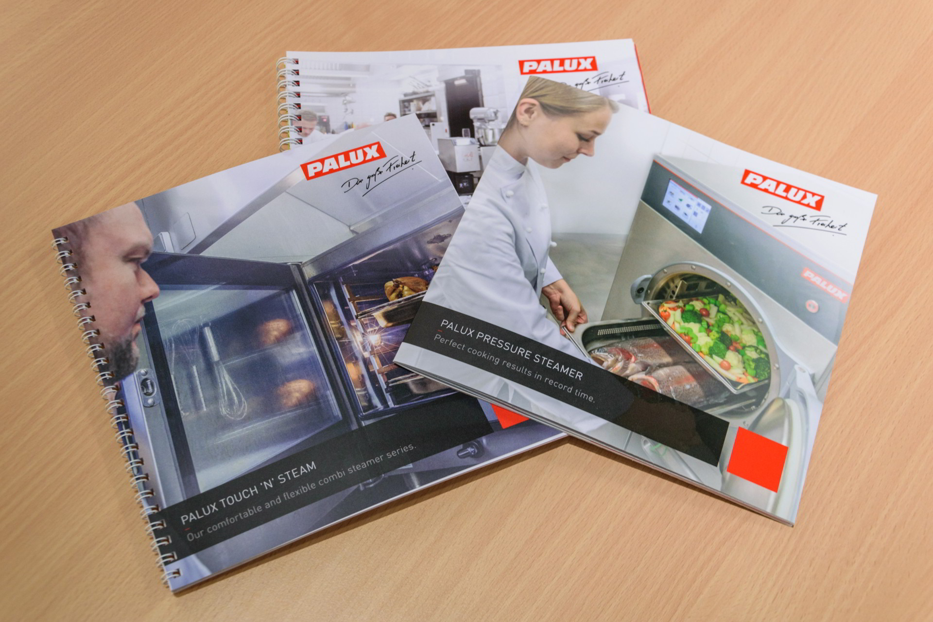 New brochures: Touch 'n' Steam, Pressure Steamer and Product Overview