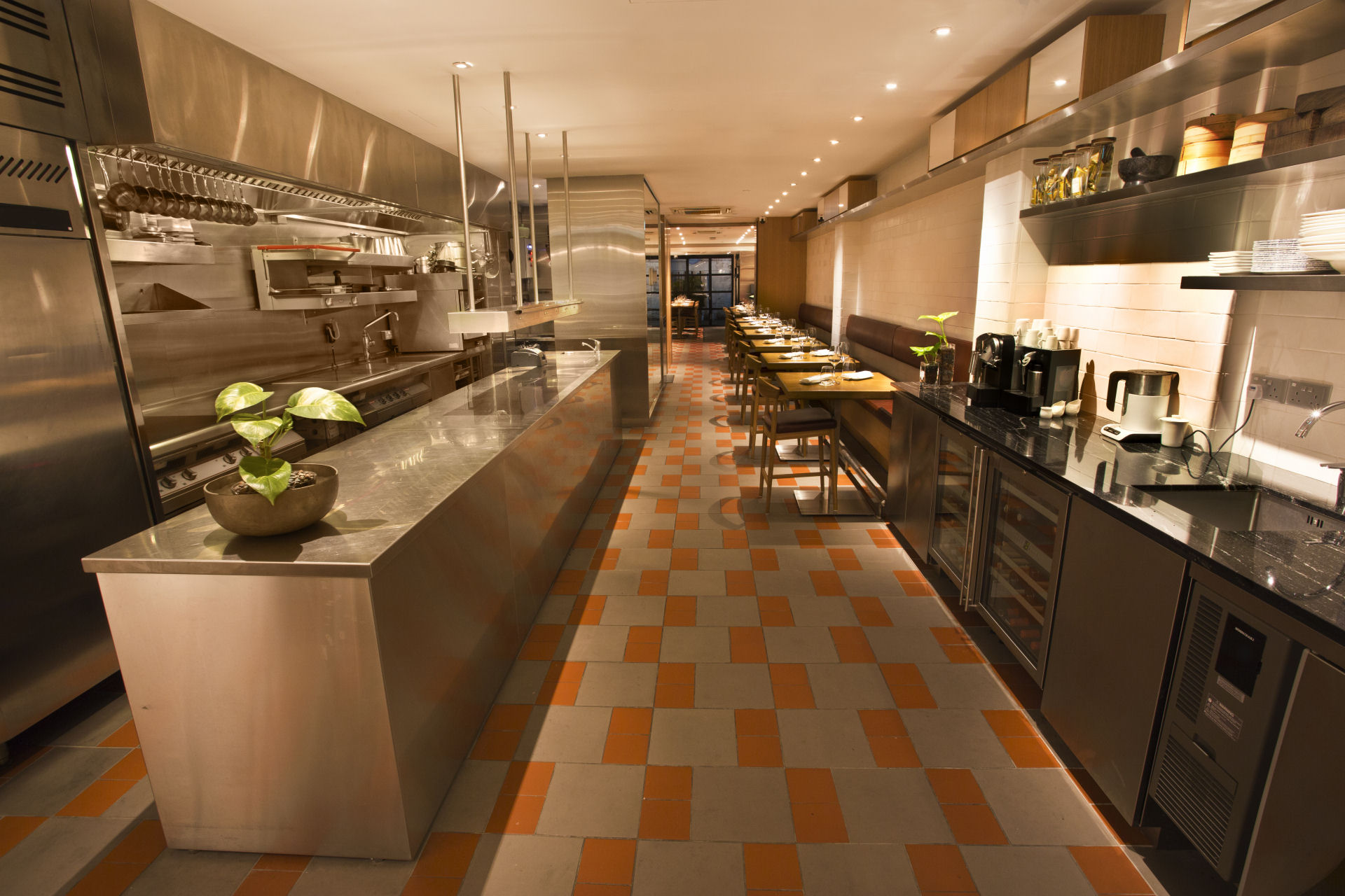 The Kitchen at Bacchanalia in Singapore